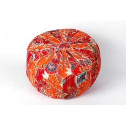 Poef kantha red-orange